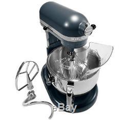 KitchenAid KP26M1Xqbs Pro 600 Stand Mixer Metal 6 quart blue steel Brand New
