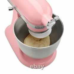 KitchenAid KSM3311XGU Mini Series Tilt-Head Stand Mixer, 3.5 quart, Guava Pink