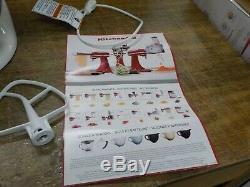 KitchenAid KSM75WH Classic Plus Series 4.5-Quart Tilt-Head Stand Mixer, White