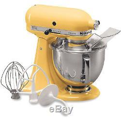 KitchenAid Majestic Yellow Artisan 5-Quart Tilt-Head Stand Mixer KSM150PSMY