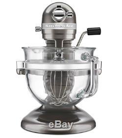 KitchenAid Mixer 6 Quart Glass Bowl Bundle Counter Top Cooking Quick Handle Easy