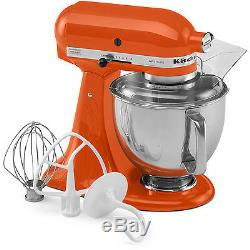 KitchenAid Persimmon Artisan 5-Quart Tilt-Head Stand Mixer KSM150PSPN