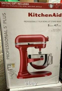 KitchenAid Professional 5 Plus 5 Quart Bowl Lift Stand Mixer Free Shipping