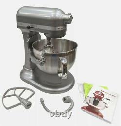 KitchenAid Professional Series 6 Quart Bowl Lift Stand Mixer with Flex Edge SILVER