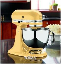 KitchenAid Refurbished 5-Quart Artisan Tilt-Head Stand Mixer Majestic Yellow