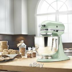 KitchenAid Refurbished 5-Quart Artisan Tilt-Head Stand Mixer Pistachio