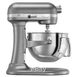 KitchenAid Refurbished 6-Quart Pro 600 Bowl-Lift Stand Mixer Contour Silver