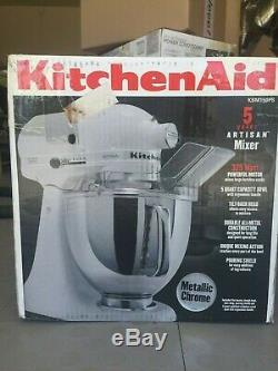 KitchenAid Stand Mixer tilt 5-Quart Artisan KSM150PSMC Metallic Chrome