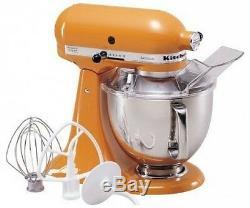 KitchenAid Stand Mixer tilt 5-Quart ksm150pstg Artisan 10-sp Tangerine Orange