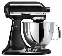 KitchenAid Stand Mixer tilt 5-Quart rk150ob Onyx Black Artisan Refurb KSM150PSob