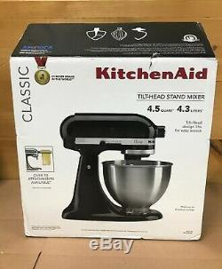 Kitchenaid K45SSOB Classic 4.5-Quart Tilt Head Stand Mixer Onyx Black