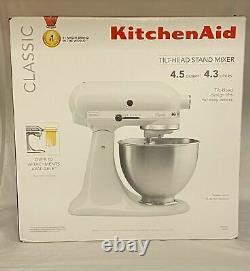 Kitchenaid K45sswh Classic Series 4.5 Quart Tilt-head Stand Mixer -(ebt5)