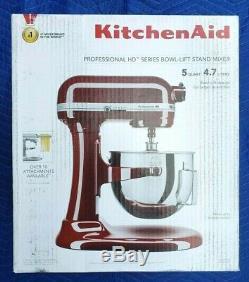 Kitchenaid KG25H0X 5 Quart Professional Series Mixer With Bowl Lift Crimson Red