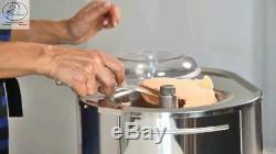 Lello 4080 Musso Lussino 1.5-Quart Ice Cream Maker, Stainless 1.5 Quart
