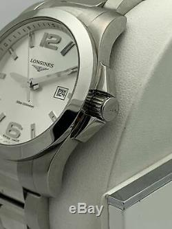 Longines Men's Conquest Silver Dial Stainless Steel Quarts Watch L37604566