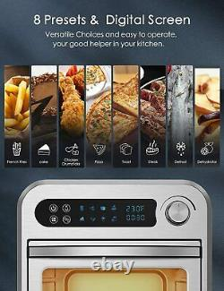 MOOSOO 10.6 Quart Oil-less Electric Air Fryer Oven Dehydrator Rotisserie 1500W
