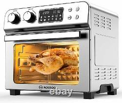 MOOSOO 10-in-1 Air Fryer Convection Toaster Oven 24 Quart/6 Slices Large 1700W