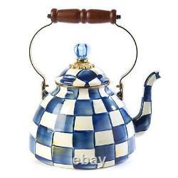 MacKenzie-Childs Royal Check Enamel Tea Kettle 3 Quart