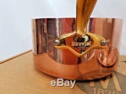 Mauviel France M150B 1.5mm Copper 2 Quart Saucepan Bronze Handles NEW