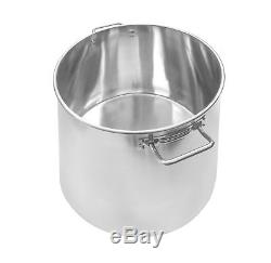 NEW 160 QT Quart Polished Stainless Steel Stock Pot Brewing Kettle Large with Lid