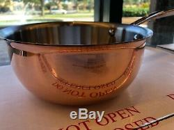 NEW ALL CLAD C4 copper clad 2.5 Quart Saucier Curved Sauce MADE IN USA 4 ply