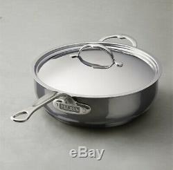 NEW Hestan NANOBOND 5.0 quart Essential Sauté Pan with Lid ITALY Titanium