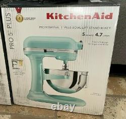 NEW KITCHENAID PRO 5 PLUS KV25G0XIC Ice Blue Aqua 5-QUART Bowl Lift Stand Mixer