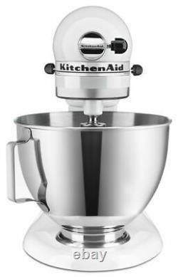 NEW KitchenAid 4.5-quart Tilt Head Stand Mixer withbowl with handle White