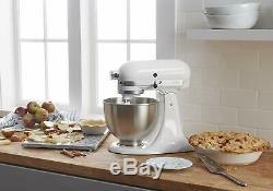 NEW KitchenAid Classic Series 4.5 Quart 10 Speeds Tilt-Head Stand Mixer White