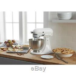 NEW KitchenAid Classic Series 4.5 Quart Tilt-Head White Stand Mixer 10 Speed