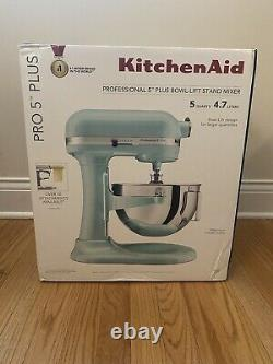 NEW KitchenAid Professional Pro 5 Plus 5 Quart Stand Mixer ICE BLUE