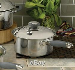 NEW ROYAL PRESTIGE 1.5 quart sauce pan Waterless Induction 5 Ply T304 Stainless