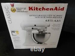 NIB! KitchenAid K45sswh Classic 4-1/2-quart Stand Mixer. Free Shipping