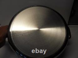 New ALL CLAD Stainless Steel 4 Qt Quart Saute Pan withLid & Splatter Screen
