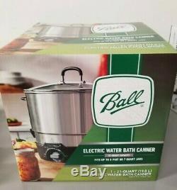 New Ball 21 Quart Electric Water Bath Canner Cooker Steamer
