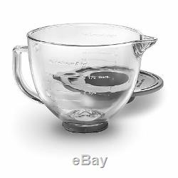 New KitchenAid 5-Quart Glass Bowl With Lid K5GB Fits All Tilt ksm150ps Artisan