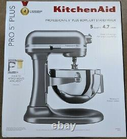 New KitchenAid Pro Professional 5 Plus 5 Quart Bowl-Lift Stand Mixer Silver