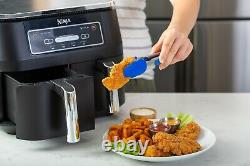 Ninja DZ100 Foodi 4-in-1 2-Basket Air Fryer DualZone Technology, 8-Quart dz201