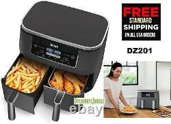 Ninja DZ201 Foodi 6-in-1 2-Basket Air Fryer with DualZone Technology, 8-Quart