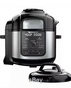 Ninja FOODI DELUXE XL Air Fry Crisper TenderCrisp Pressure Cooker 8 Quart FD402