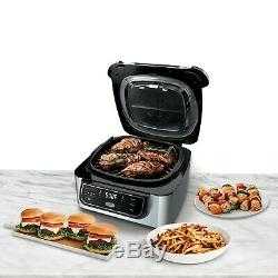 Ninja Foodi 4-in-1 Indoor Grill with 4-Quart Air Fryer with Roast, Bake, and C