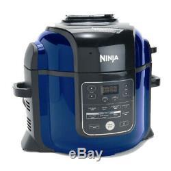 Ninja Foodi 8-Quart 9-in-1 Deluxe XL Pressure Cooker and Fryer, Blue Renewed