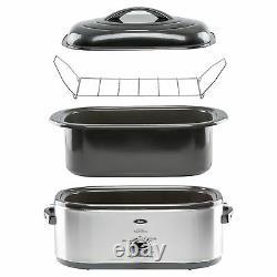 Oster 24 lb Turkey Roaster Oven Slow Cooker 20 Quart Stainless Steel