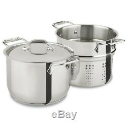 Pasta Pot Set Stainless Steel Cookware Noodle Strainer Insert 6-Quart Pots Steam