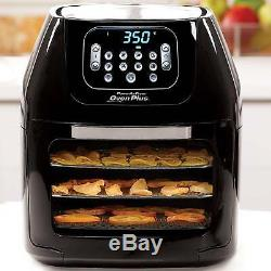 Power Air Fryer Oven Plus 6 Quart One-Touch Eight Functions Drip Tray Black New