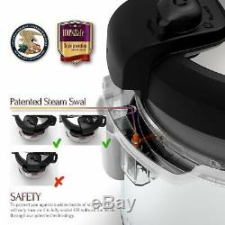 Premium Electric Pressure Rice Cooker 6 Quart Instant Pot Programmable Multi-Use