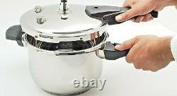 Pressure Cooker Stainless Steel Body, 4.5/6.7/8.9/11.2/13.4 Quarts, Silver