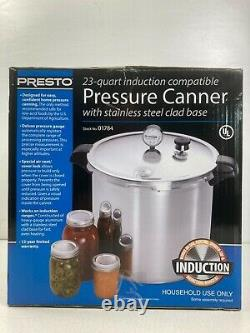 Presto 23 Quart Pressure Canner with Stainless Steel Induction Compatible Base