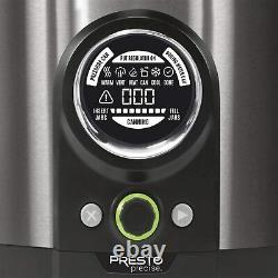 Presto Precise 12 Quart Automated Digital Canner, Black Stainless (02144)