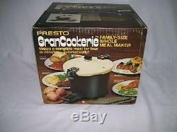 RARE Vintage PRESTO GranCookerie Electric PRESSURE Cooker 6 Quart NEW NIB